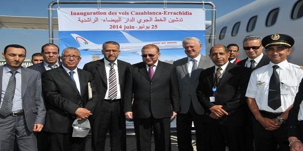 Lancement du vol inaugural de la ligne casablanca errachidia for Interieur gov ma